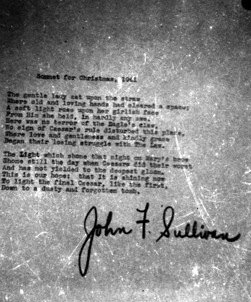 Dads Sonnet for Christmas 1941 1