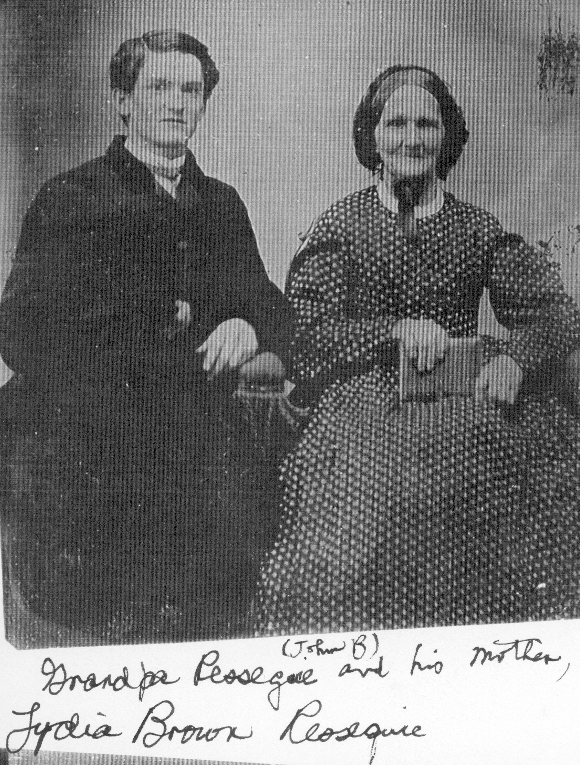 John B Ressiguie grandpa with his mother Lydia B Ressiguie