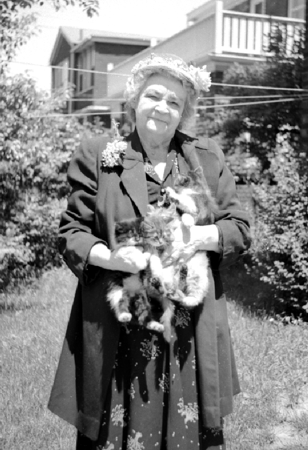 grandma and cats 1