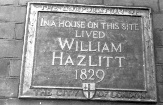 hazlitt lived here
