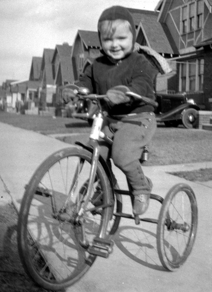 henry on a bike