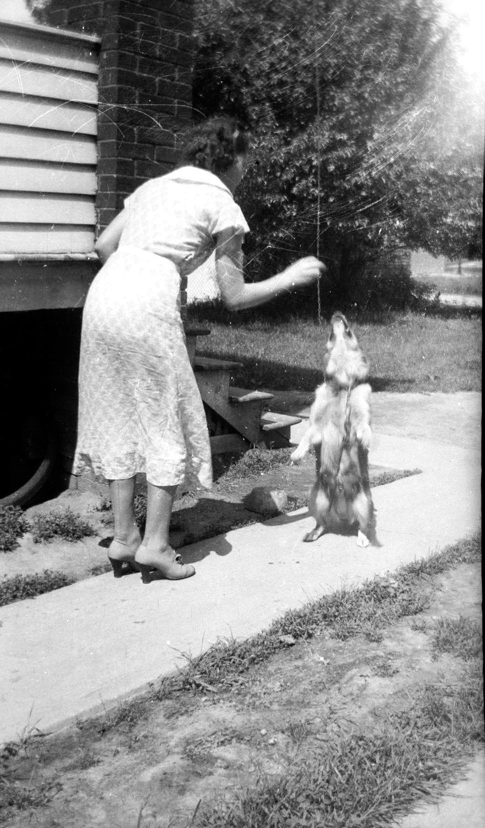 mary and dog 1