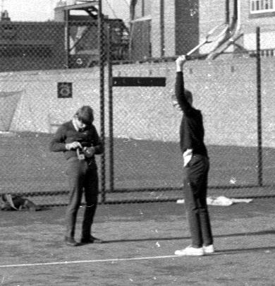 mike and chris tennis oxford 1967